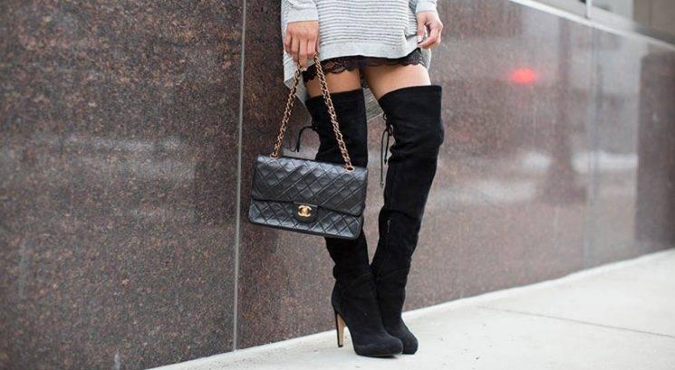 Jesenska moda: Kako na damski način nositi škornje čez koleno