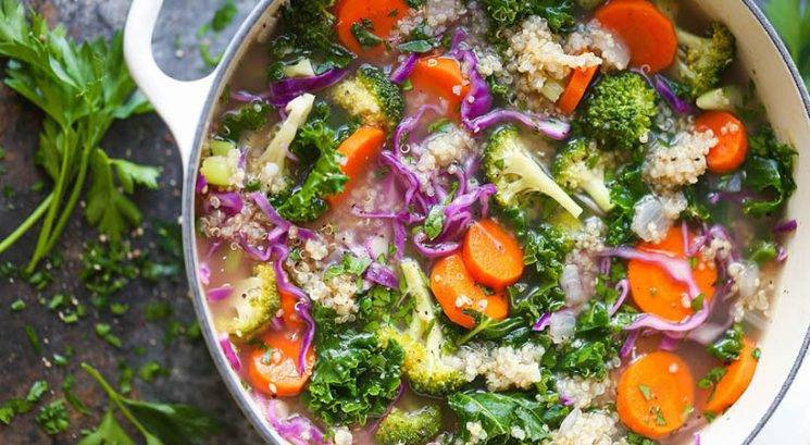 Vegi recept: Super zdrava juha s kvinojo