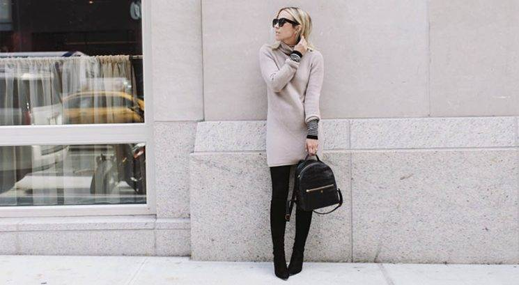 Zimska moda: Kako stilirati pulover-obleko