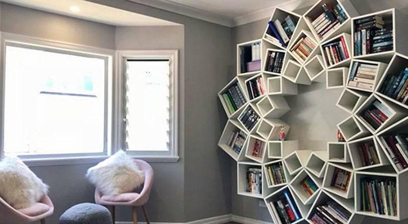 Par ustvaril izjemno steno za knjige, kakršne še nisi videla!