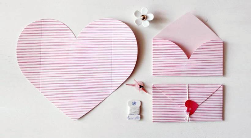 DIY valentinovo: Pisemska ovojnica iz srca