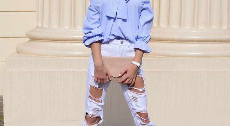 Kako lahko raztrgane hlače nosiš tudi pozimi (in ne zmrzuješ v njih!)