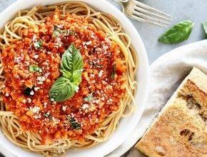 Veganska bolognese omaka iz cvetače