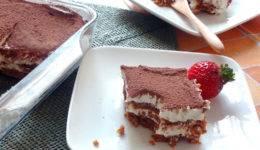Zdravo sladkanje: Beljakovinski tiramisu
