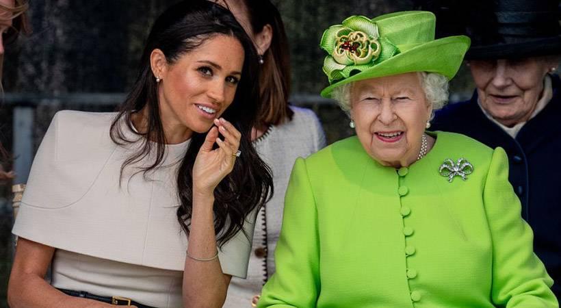 Moraš videti! Prisrčen trenutek zmedenosti Meghan Markle in kraljice Elizabethe II