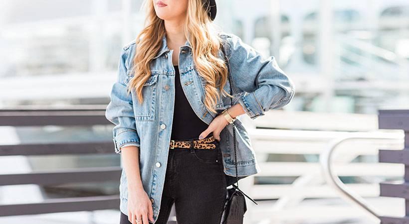Modni trik: Kako nositi jeans jakno in v njej izgledati vitko