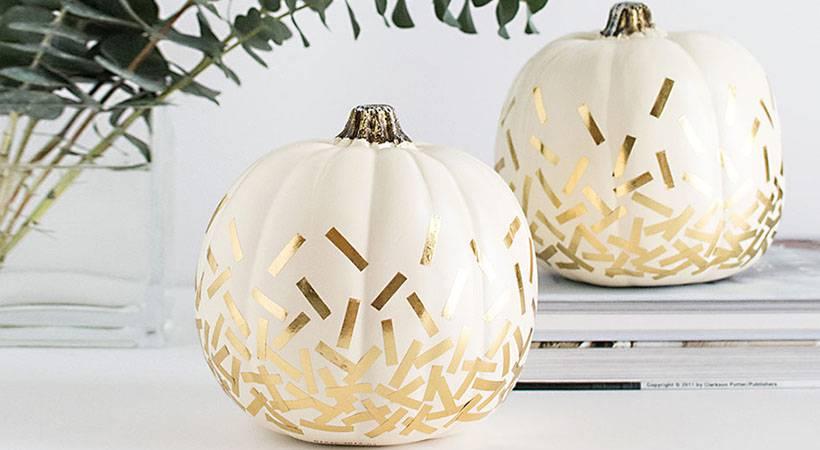 Halloween: Elegantne buče s konfeti