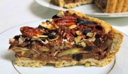 Recept: Veganska pita s kokosom, čokolado in orehi