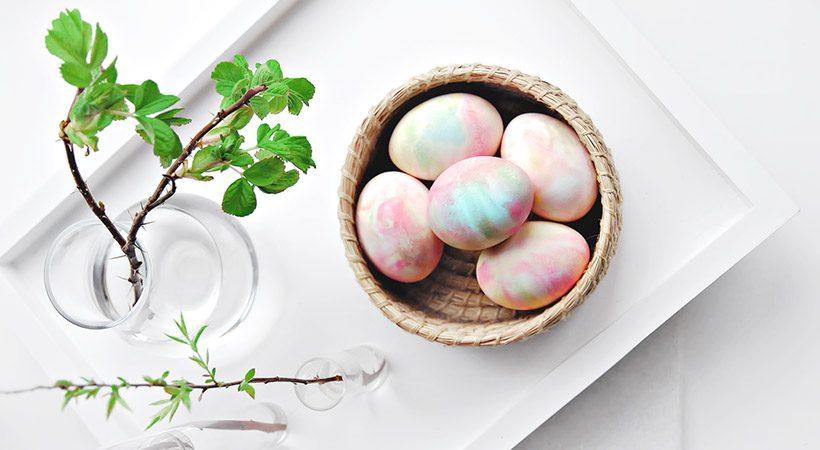 Velikonočna jajca: Kako pobarvati jajca s stepeno smetano