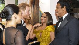 Poglej, kaj je Beyoncé naredila z obleko, ko se je srečala z Meghan in Harryjem