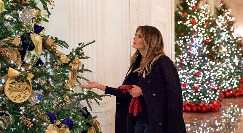 Melania Trump že planira praznično okrasitev v Beli hiši