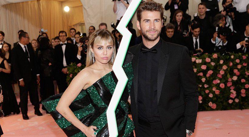 Konec je! Razšla sta se Miley Cyrus in Liam Hemsworth