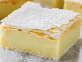 Veganski recept: Rezine z vanilijevo kremo