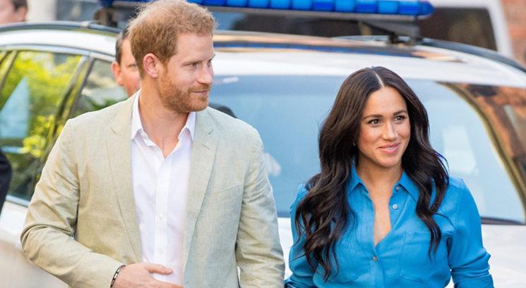 Meghan Markle in princ Harry v Južni Afriki prvič pokazala svojega sina