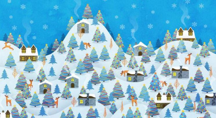 Božična uganka: Najdeš božičkovega škrata v manj kot 1 minuti in 46 sekundah?