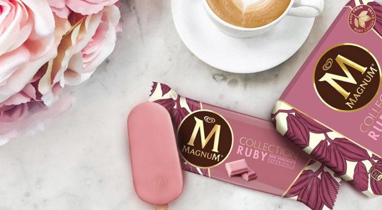 Magnum lansiral prvi sladoled z rozasto Ruby čokolado!